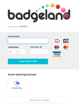 betaling med mobilepay